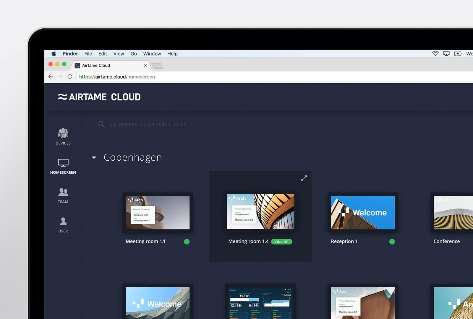 Airtame Cloud på computer